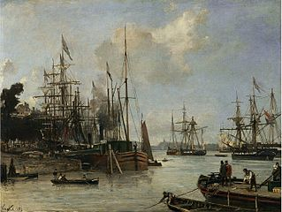 A View of the Harbour, Rotterdam 1856