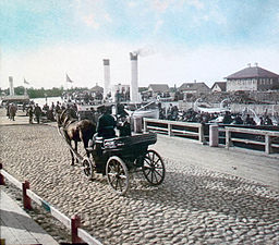 Cab at the port of St. Petersburg - 1896