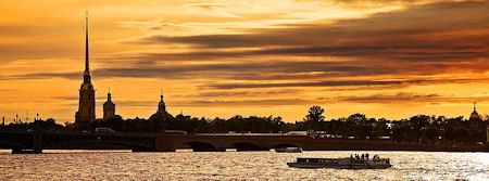 Afternoon on the river Neva<br>St. Petersburg