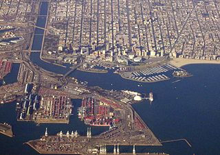 Aerial View<br>Port of Long Beach