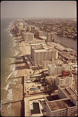 Miami's Hotel Row in 1972