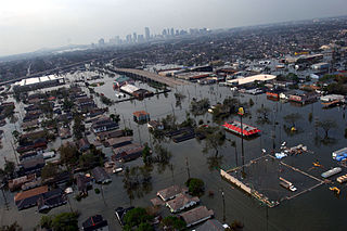 New Orleans flooding from Hurricane Katrina