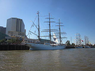 Tall ships at the French Quarter<br>New Orleans
